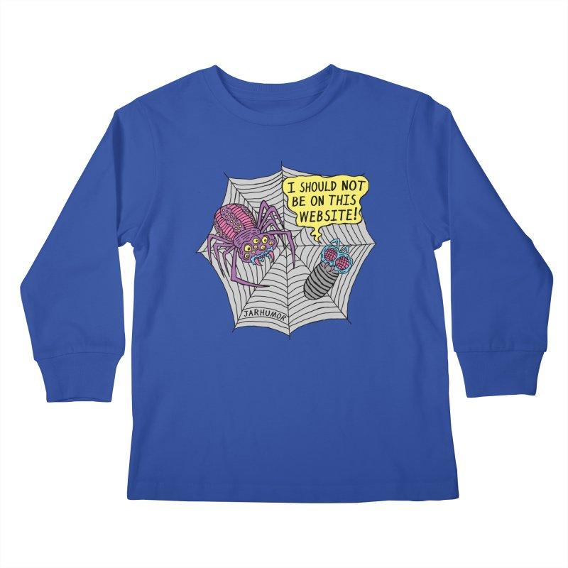 Spider Website Kids Longsleeve T-Shirt by JARHUMOR