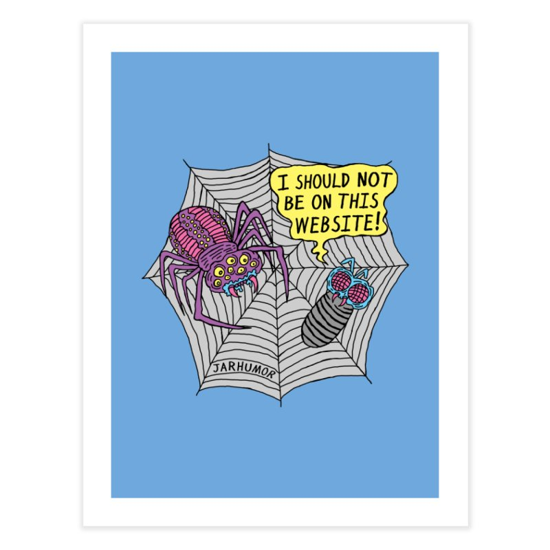Spider Website Home Fine Art Print by JARHUMOR