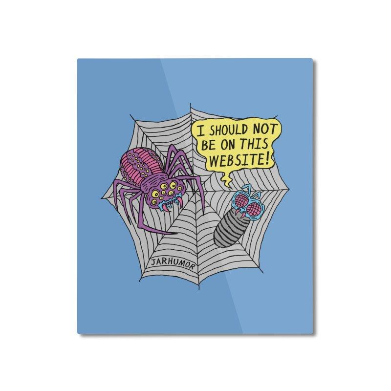 Spider Website Home Mounted Aluminum Print by JARHUMOR