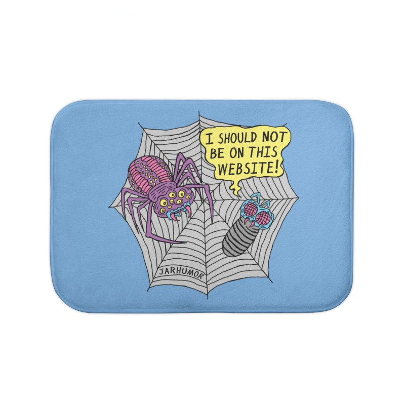 Spider Website Home Bath Mat by JARHUMOR