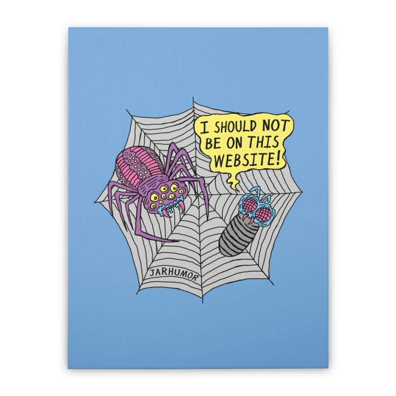Spider Website Home Stretched Canvas by JARHUMOR