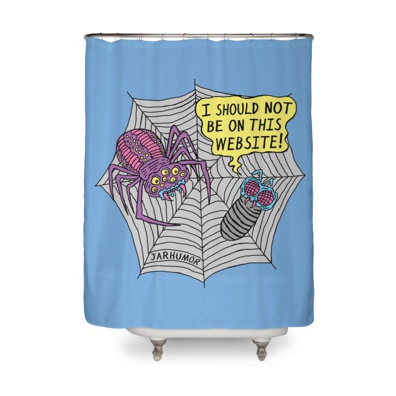 Spider Website Home Shower Curtain by JARHUMOR