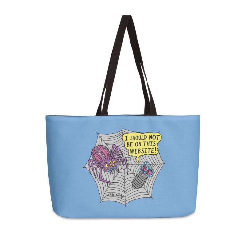 Spider Website Accessories Weekender Bag Bag by JARHUMOR