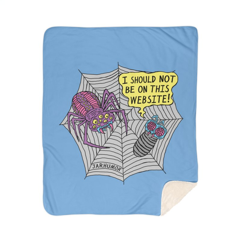 Spider Website Home Sherpa Blanket Blanket by JARHUMOR