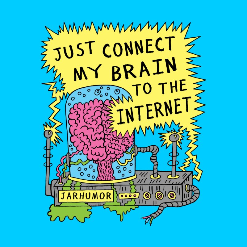 Internet Brain Men's T-Shirt by JARHUMOR