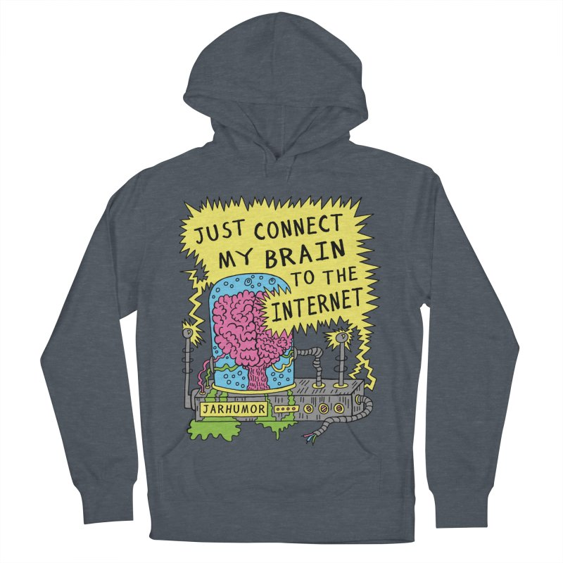 Internet Brain Men's French Terry Pullover Hoody by JARHUMOR