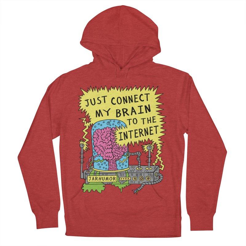 Internet Brain Men's French Terry Pullover Hoody by JARHUMOR