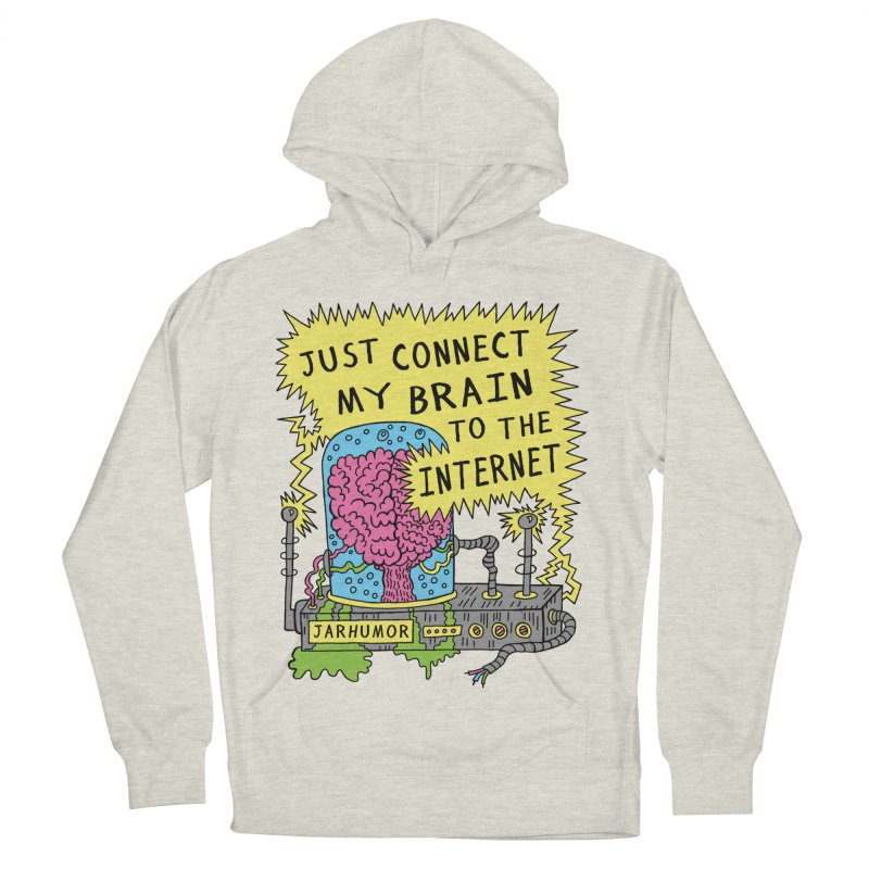 Internet Brain Men's Pullover Hoody by JARHUMOR