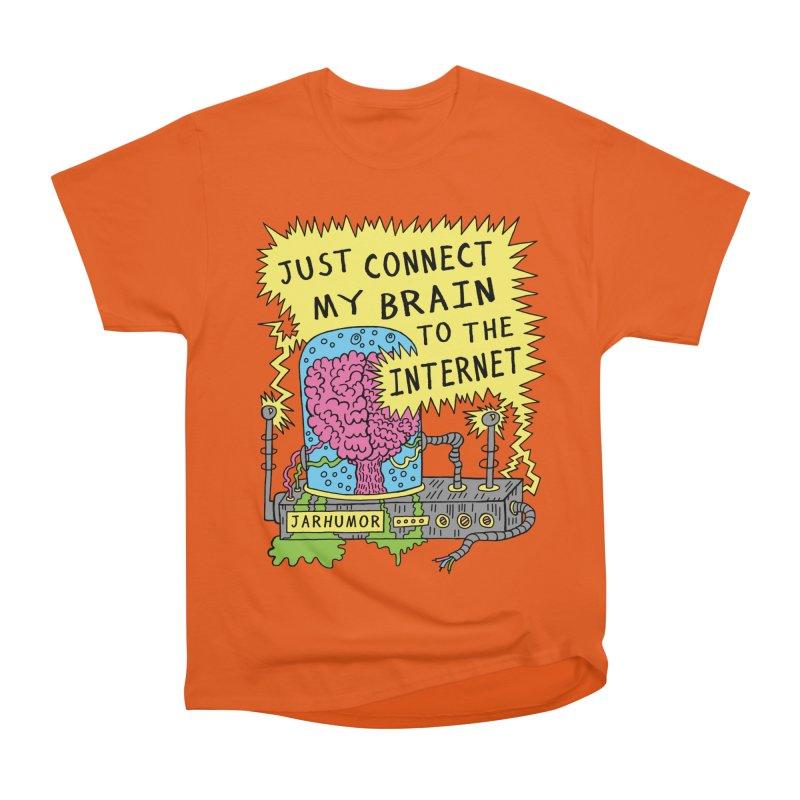 Internet Brain Men's Heavyweight T-Shirt by JARHUMOR