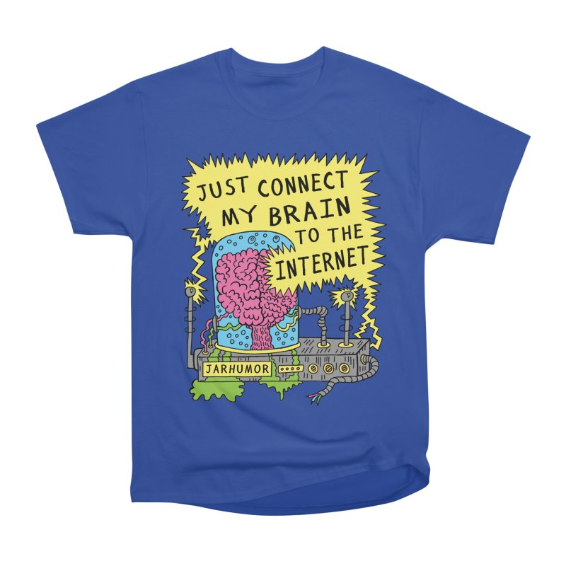 Internet Brain Men's Classic T-Shirt by JARHUMOR