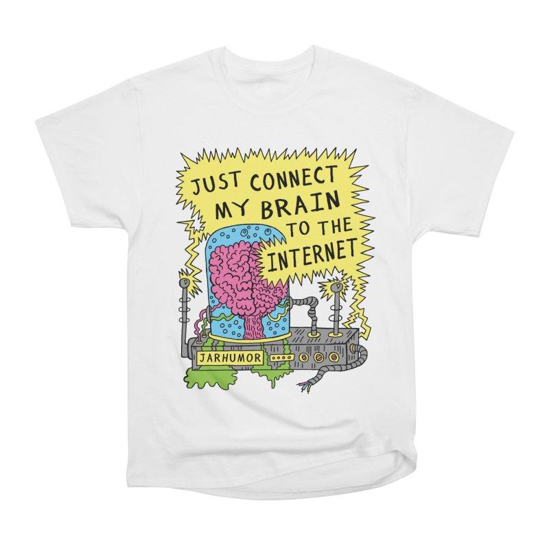 Internet Brain Women's Heavyweight Unisex T-Shirt by JARHUMOR