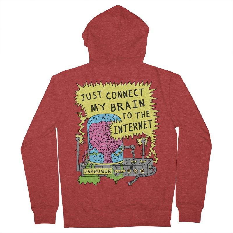 Internet Brain Men's French Terry Zip-Up Hoody by JARHUMOR