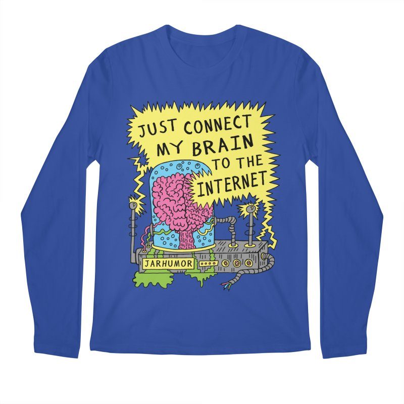 Internet Brain Men's Regular Longsleeve T-Shirt by JARHUMOR