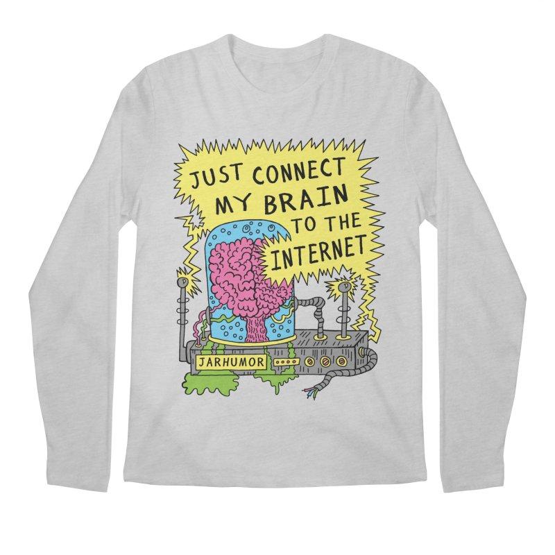 Internet Brain Men's Regular Longsleeve T-Shirt by JARHUMOR