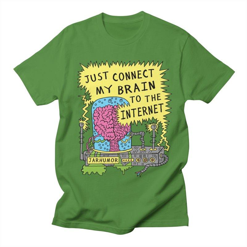 Internet Brain Men's Regular T-Shirt by JARHUMOR