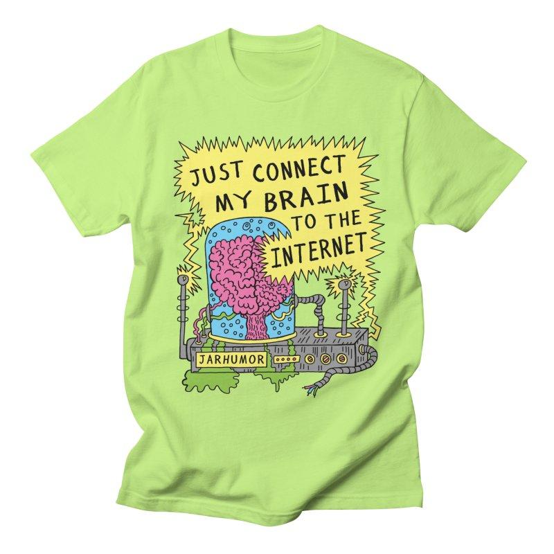 Internet Brain Women's Regular Unisex T-Shirt by JARHUMOR