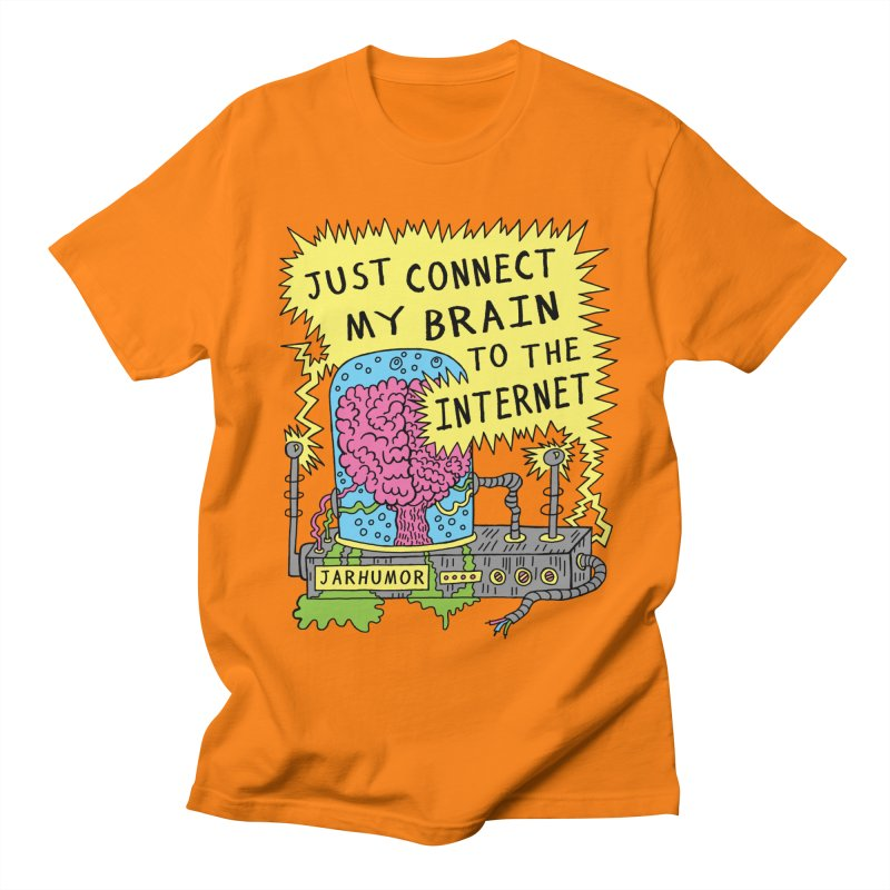 Internet Brain Men's Regular T-Shirt by JARHUMOR
