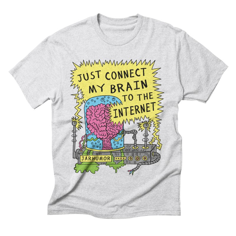 Internet Brain Men's Triblend T-Shirt by JARHUMOR