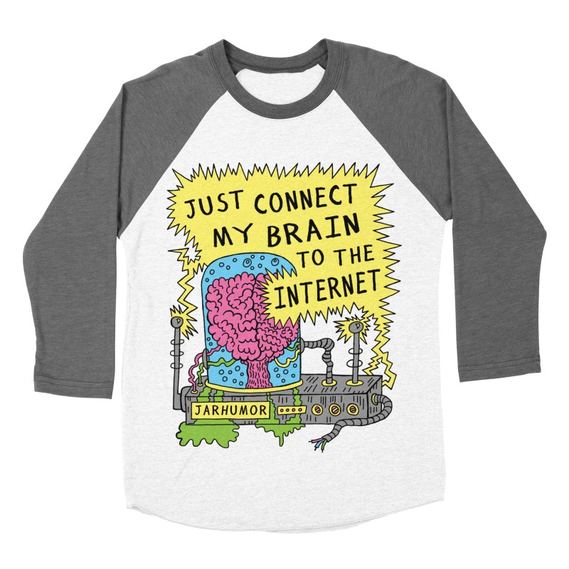 Internet Brain Women's Baseball Triblend Longsleeve T-Shirt by JARHUMOR