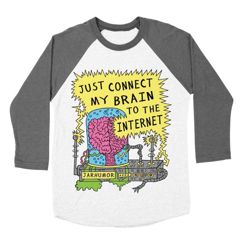 Internet Brain Men's Baseball Triblend T-Shirt by JARHUMOR