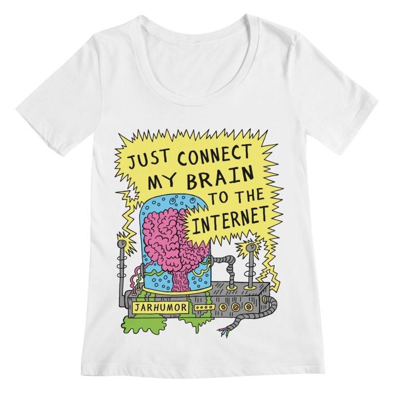 Internet Brain Women's Regular Scoop Neck by JARHUMOR