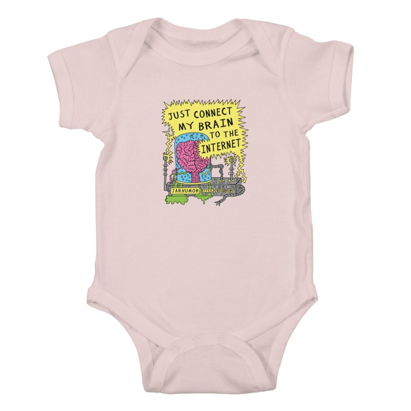 Internet Brain Kids Baby Bodysuit by JARHUMOR