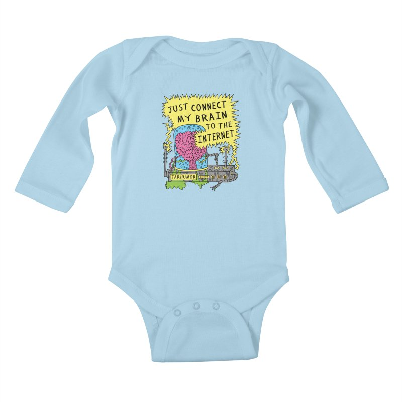 Internet Brain Kids Baby Longsleeve Bodysuit by JARHUMOR
