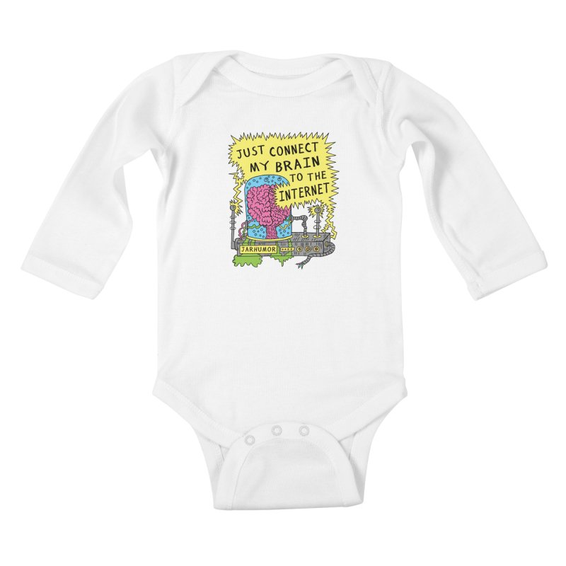 Internet Brain Kids Baby Longsleeve Bodysuit by JARHUMOR