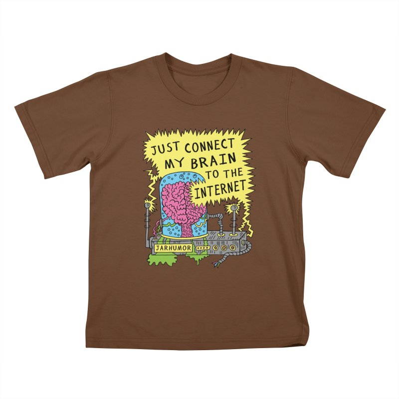 Internet Brain Kids T-Shirt by JARHUMOR