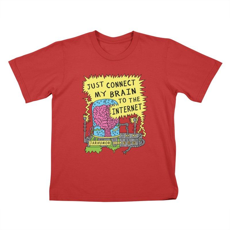 Internet Brain Kids T-Shirt by JARHUMOR