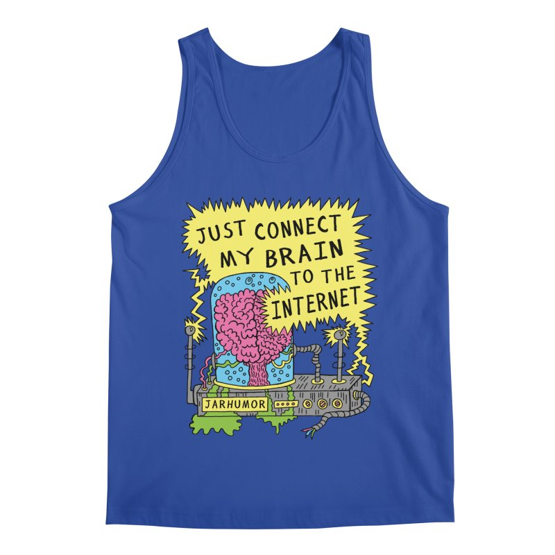 Internet Brain Men's Regular Tank by JARHUMOR