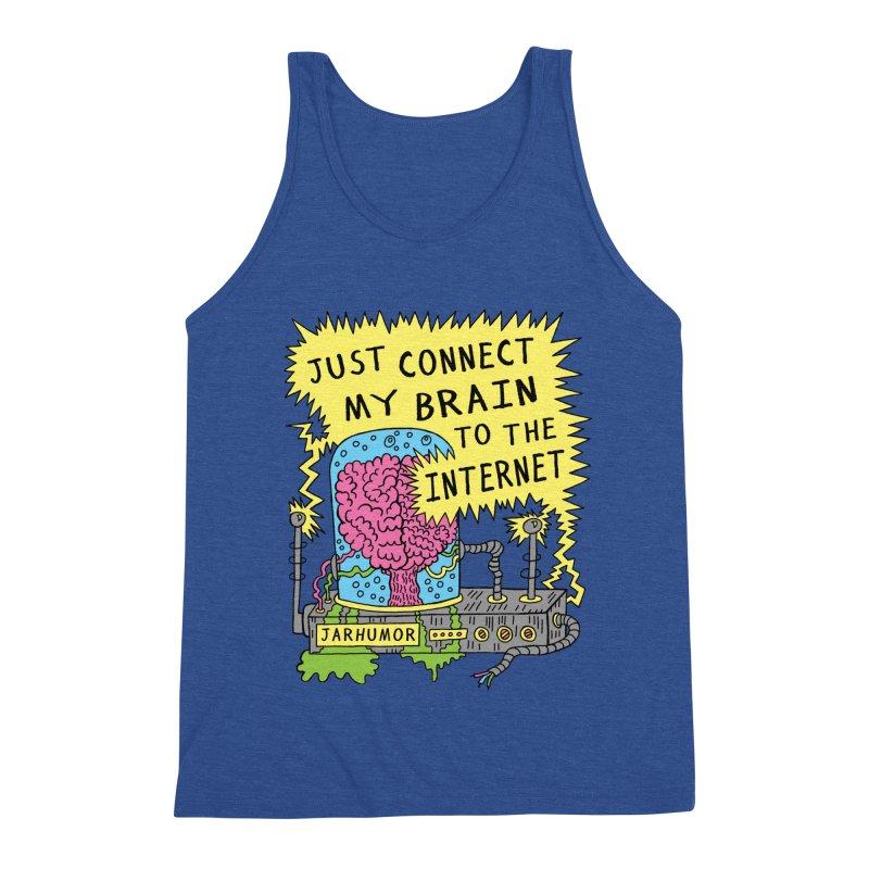 Internet Brain Men's Triblend Tank by JARHUMOR