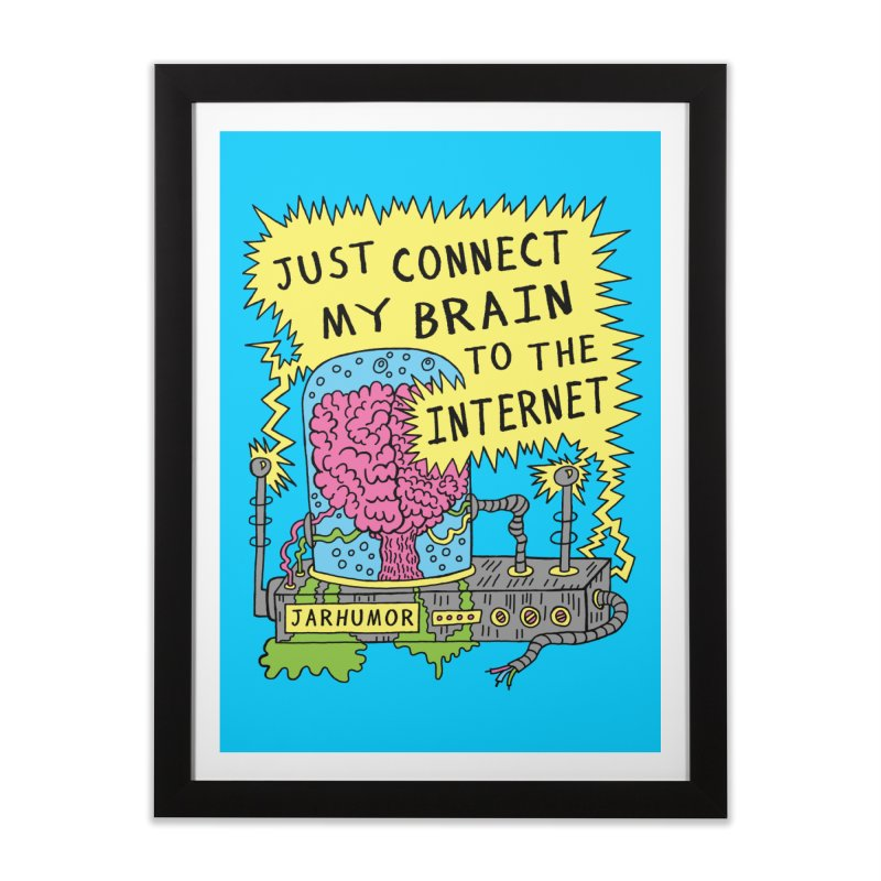Internet Brain Home Framed Fine Art Print by JARHUMOR