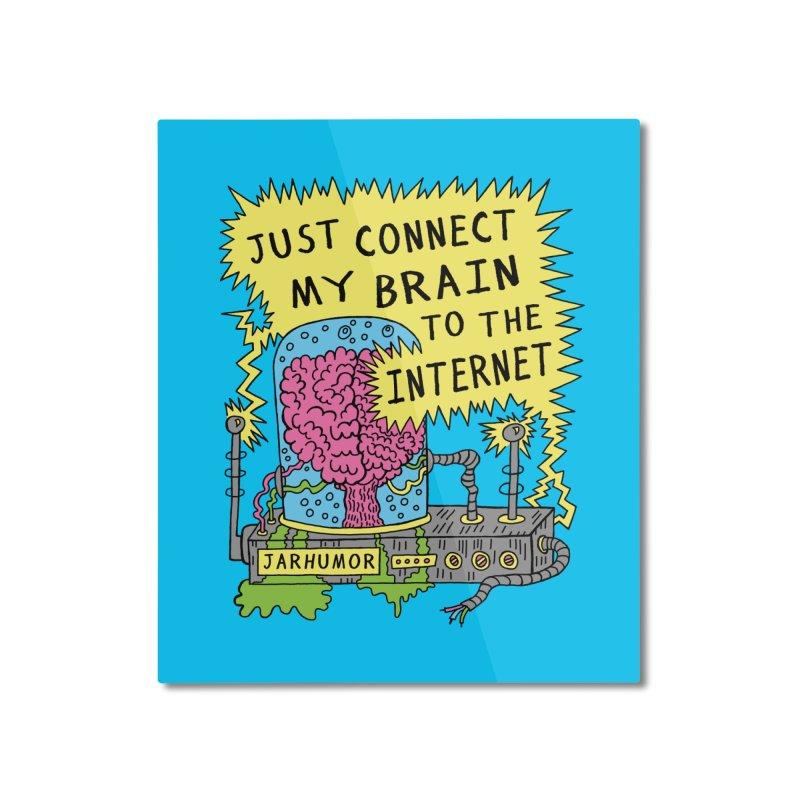 Internet Brain Home Mounted Aluminum Print by JARHUMOR