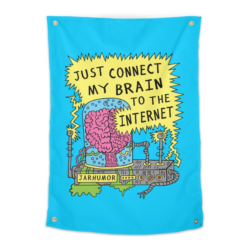 Internet Brain Home Tapestry by JARHUMOR