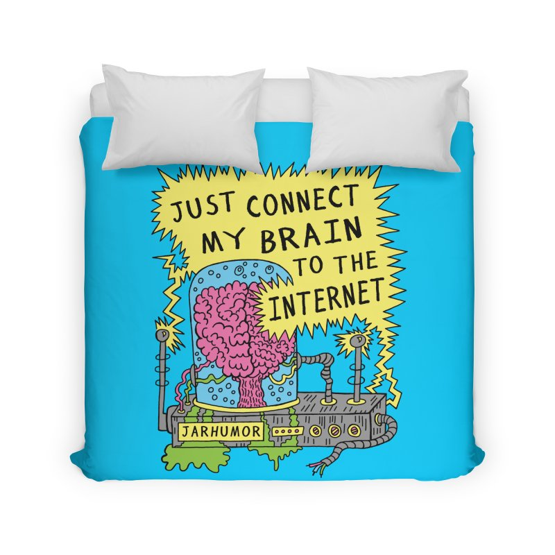 Internet Brain Home Duvet by JARHUMOR