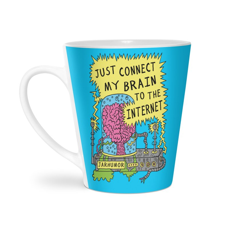 Internet Brain Accessories Latte Mug by JARHUMOR