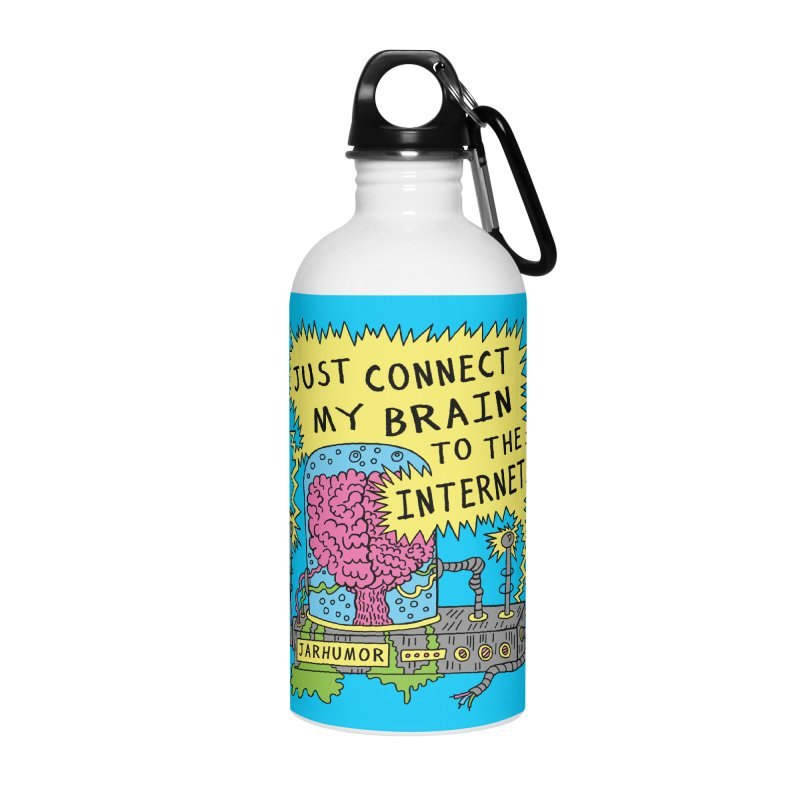 Internet Brain Accessories Water Bottle by JARHUMOR