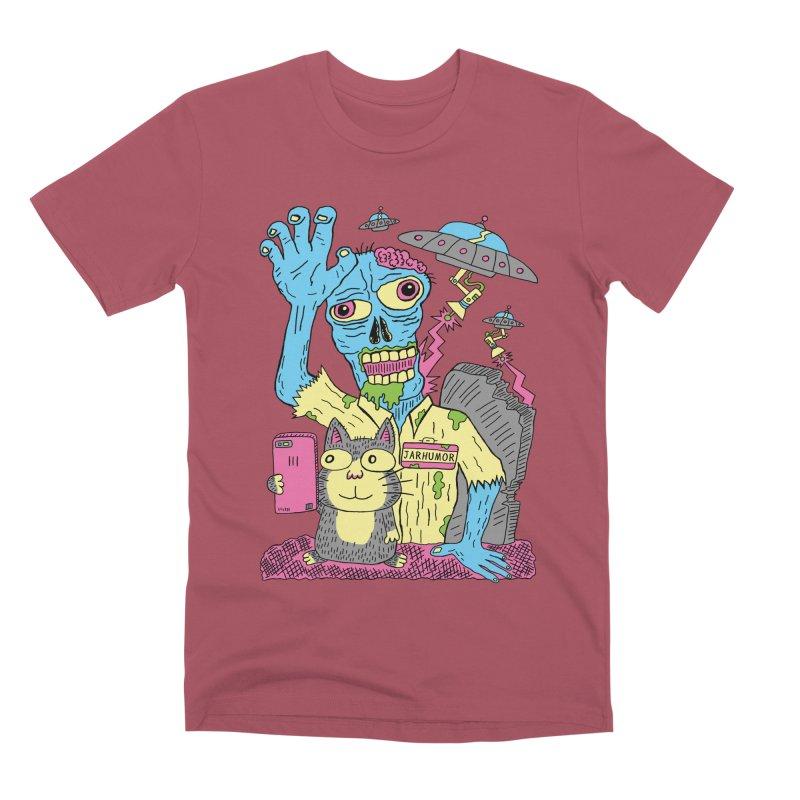 Cat Zombie UFO Men's Premium T-Shirt by JARHUMOR
