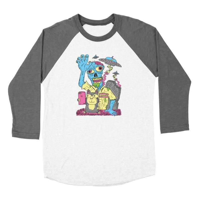 Cat Zombie UFO Women's Longsleeve T-Shirt by JARHUMOR