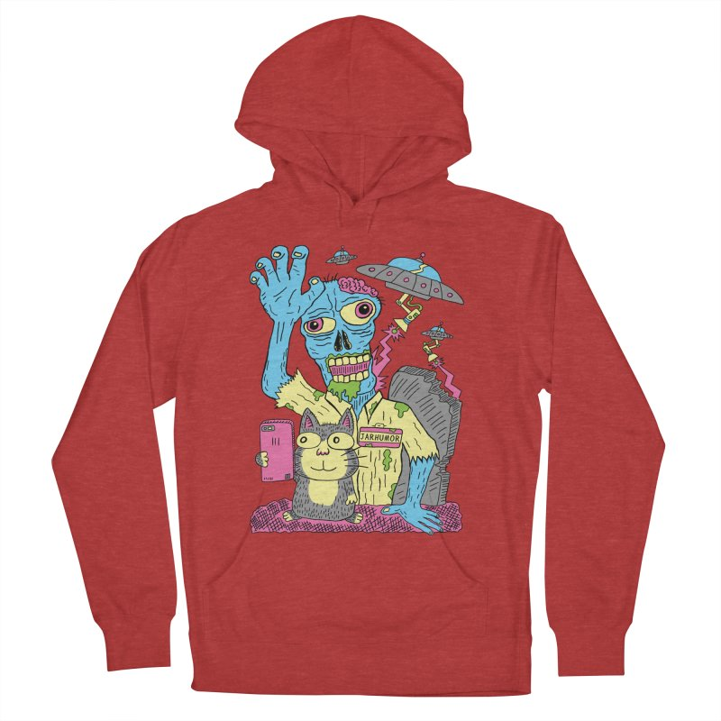 Cat Zombie UFO Men's Pullover Hoody by JARHUMOR