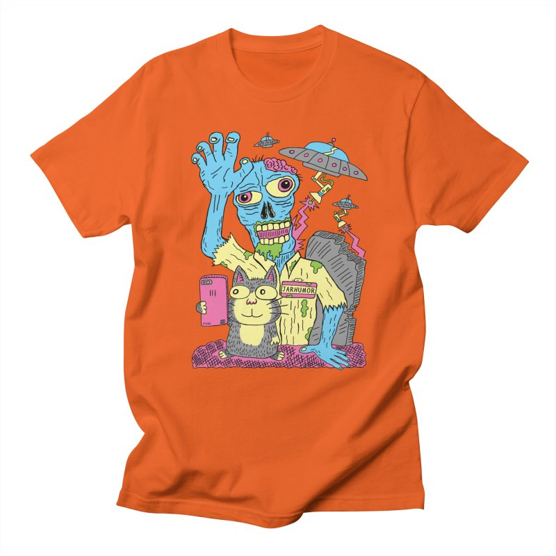 Cat Zombie UFO Women's Regular Unisex T-Shirt by JARHUMOR