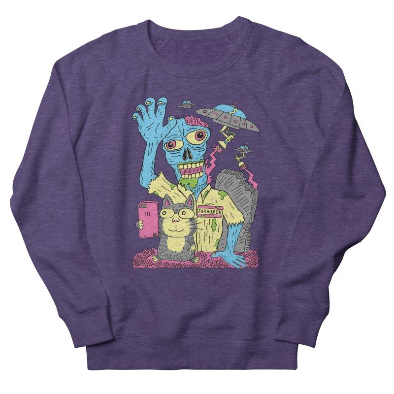 Cat Zombie UFO Women's French Terry Sweatshirt by JARHUMOR