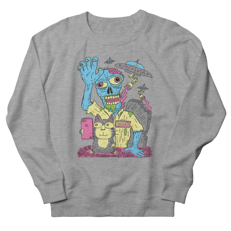 Cat Zombie UFO Women's French Terry Sweatshirt by JARHUMOR