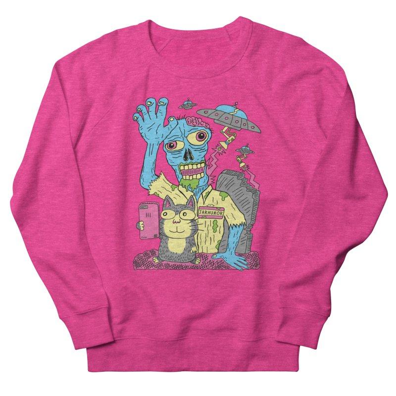 Cat Zombie UFO Women's Sweatshirt by JARHUMOR