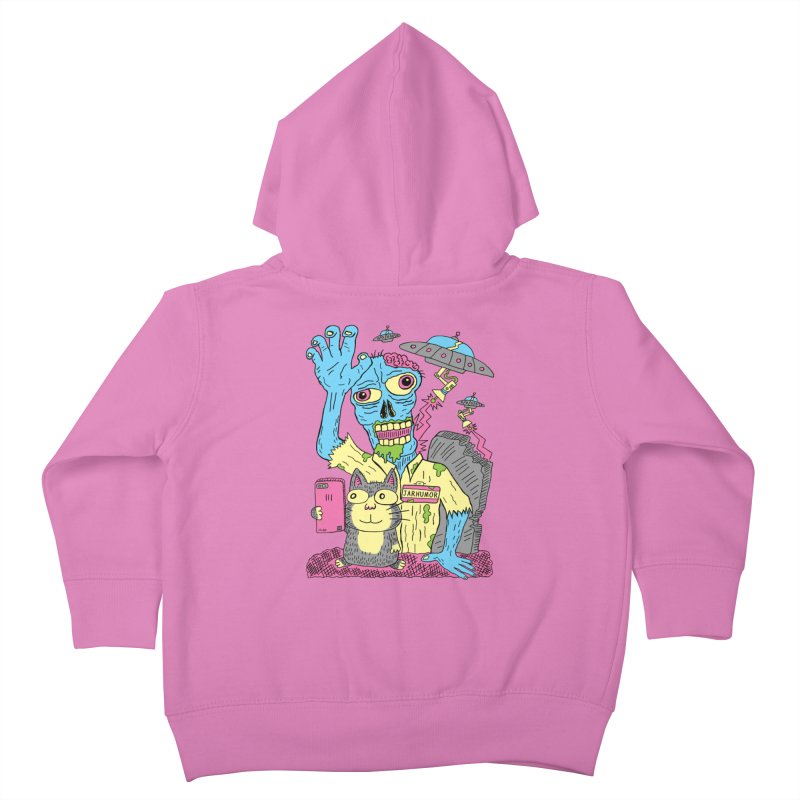 Cat Zombie UFO Kids Toddler Zip-Up Hoody by JARHUMOR