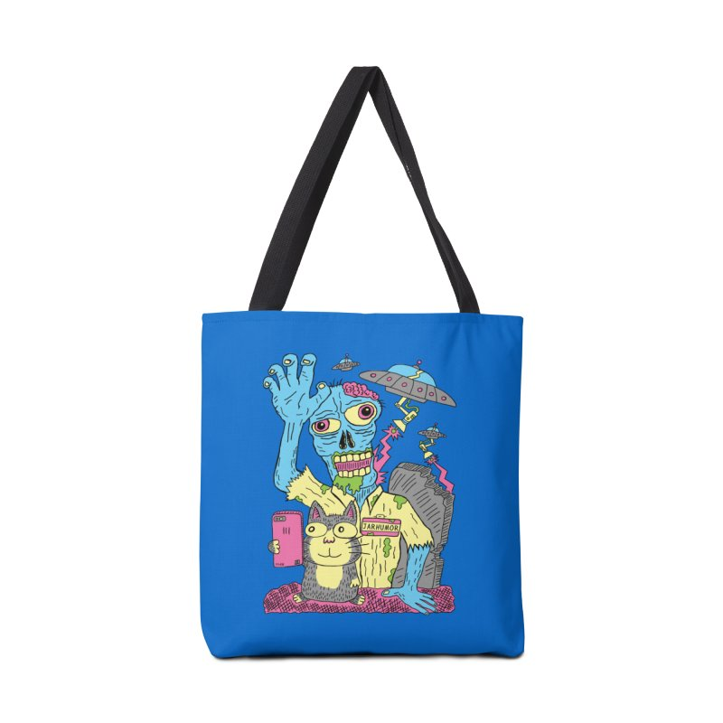 Cat Zombie UFO Accessories Tote Bag Bag by JARHUMOR