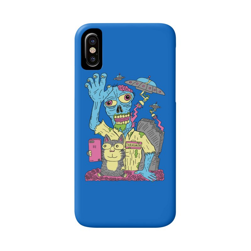 Cat Zombie UFO Accessories Phone Case by JARHUMOR