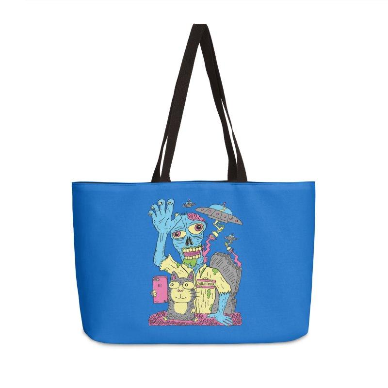 Cat Zombie UFO Accessories Weekender Bag Bag by JARHUMOR