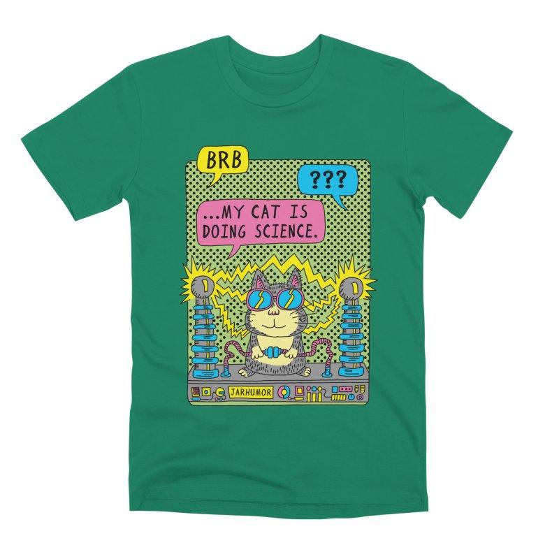Cat Science Men's Premium T-Shirt by JARHUMOR